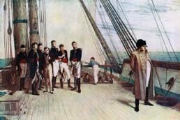Napoleon à bord du HMS Bellerophon