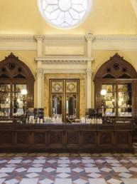 The Santa Maria Novella perfumery in Florence, antique Medici pharmacy.