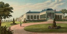 La maison de Longwood, résidence à Sainte-Hélène de l'Empereur Napoléon Ier