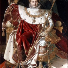 Napoleon I on the imperial throne in coronation costume