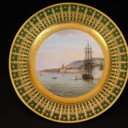 Assiette en porcelaine de Sèvres du service dit des