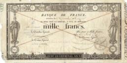 Billet de 1000 francs germinal édité en 1803