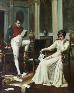 La première rencontre entre Napoléon et Joséphine a lieu un 15 octobre 1795 à l'occasion d'un dîner donné à l'hôtel particulier de Paul de Barras (1755 - 1829)