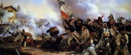 La Bataille du Pont d'Arcole. Huile sur toile d'Horace Vernet (1789 - 1863)