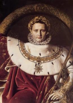 Portrait de Napoléon Bonaparte de Jean-Auguste Dominique INGRES (1780 - 1867)