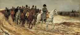 Ernest Meissonnier, 1814, la Campagne de France. Huile sur toile peinte entre 1860 et 1864 conservée au musée d'Orsay.