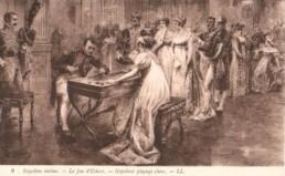 Napoléon jouant aux échecs © Delcampe