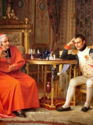 Jean-Georges VIBERT (1840 - 1902), Napoleon I playing with Cardinal Fesch. Oil on canvas © Haggin Museum