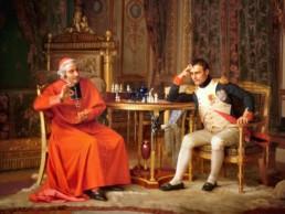 Jean-Georges VIBERT (1840 - 1902), Napoléon Ier jouant contre le Cardinal Fesch. Huile sur toile © Haggin Museum