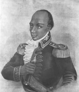 Portrait of Toussaint-Louverture by M. de Montfayon. Late 18th - early 19th century.