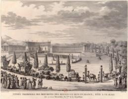 L'entrée à Paris du convoi transportant les œuvres d'art pillées par Napoléon.