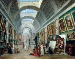 Projet d'aménagement de la Grande Galerie du Louvre, vers 1789 ROBERT Hubert (1733 - 1808) © Photo RMN-Grand Palais - G. Blot / J. Schormans