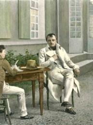 Napoléon dictant ses Mémoires à Las Cases et son fils. D'après une aquarelle de Felician Myrbach (1853 - 1940) © Classic Literature