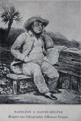 Napoleon Bonaparte at Saint Helena, after a lithograph by Horace Vernet, 19th century © Margaret Rodenberg